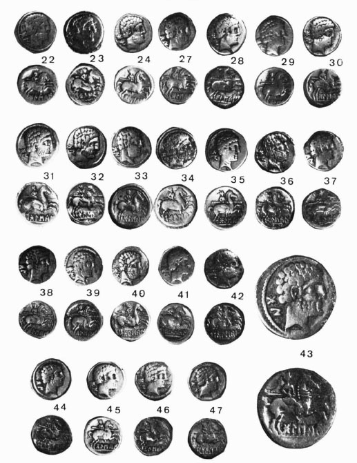 Denarios de BoLSKaN tipo Jenkins II-III del tesorillo. (foto Villaronga)